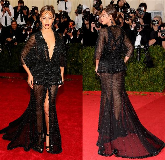 Beyonce in Givenchy Haute Couture by Riccardo Tisci gown - Met Gala 2014