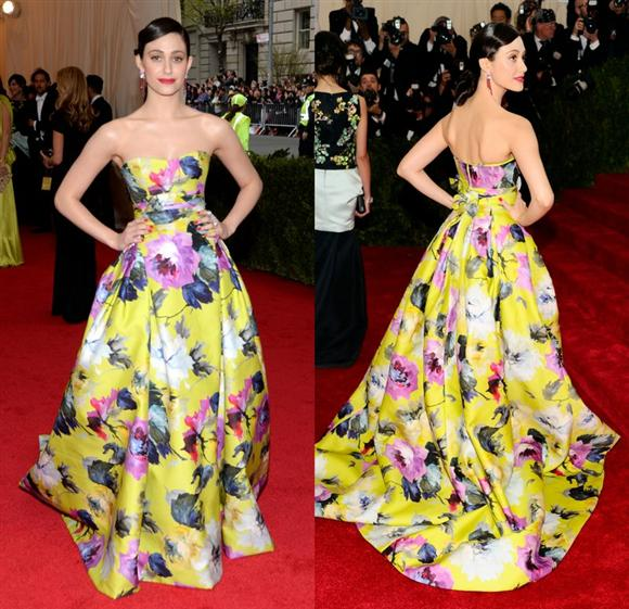Emmy Rossum in Carolina Herrera - Met Gala 2014