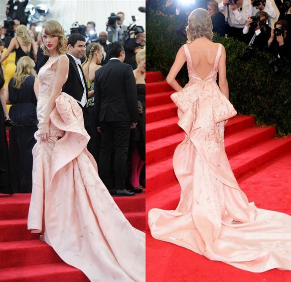 Taylor Swift in Oscar de la Renta - Met Gala 2014