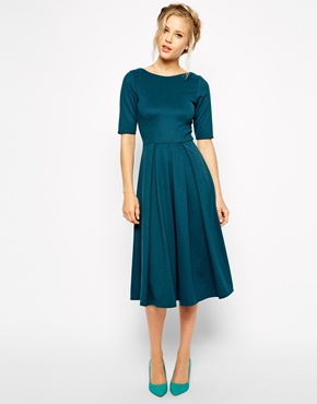 Closet Midi Skater Dress in Scuba