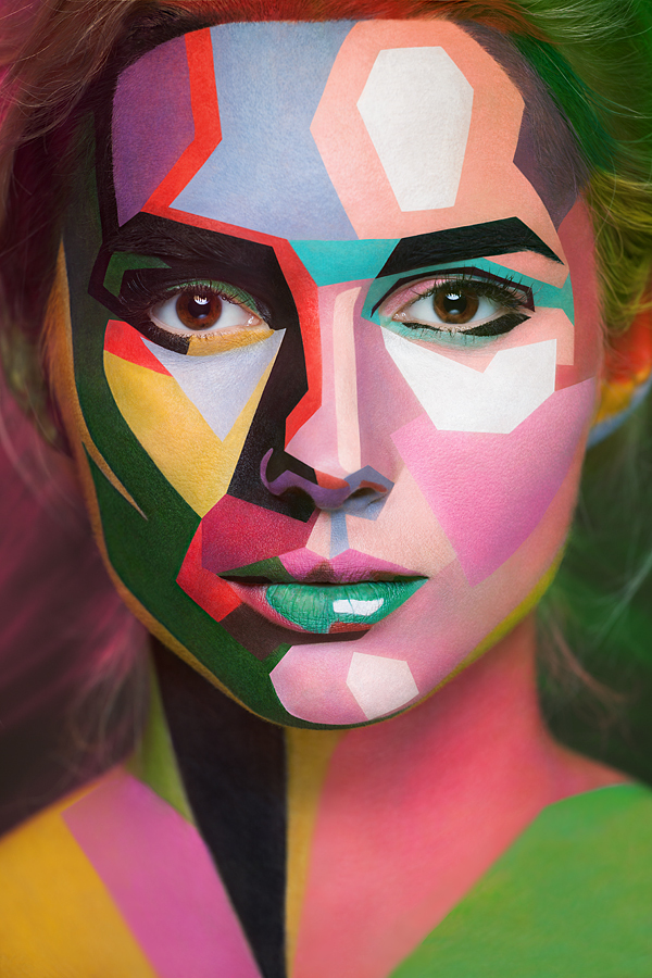 The facepainting of Russian makeup artist Valeriya Kutsan is breathtaking stuff