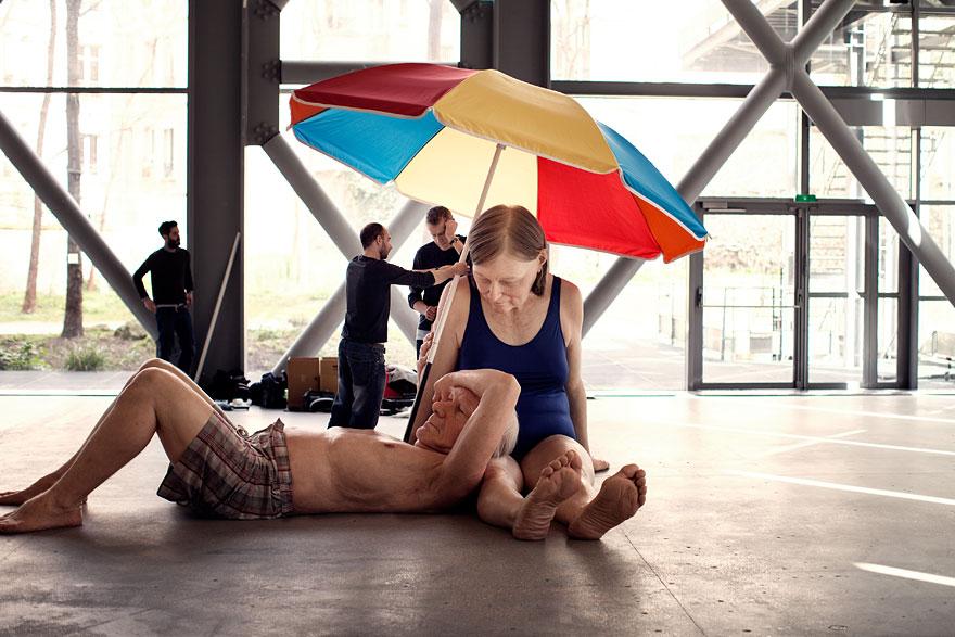 Couple under an Umbrella