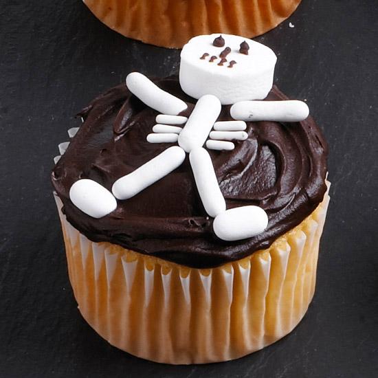 Skeleton Bones Cupcake