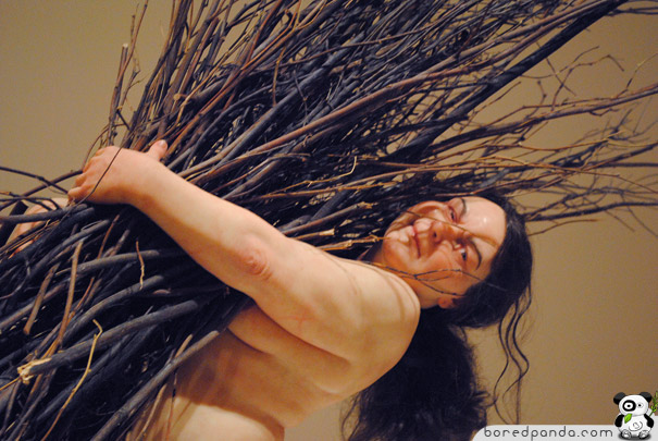 Woman with Sticks