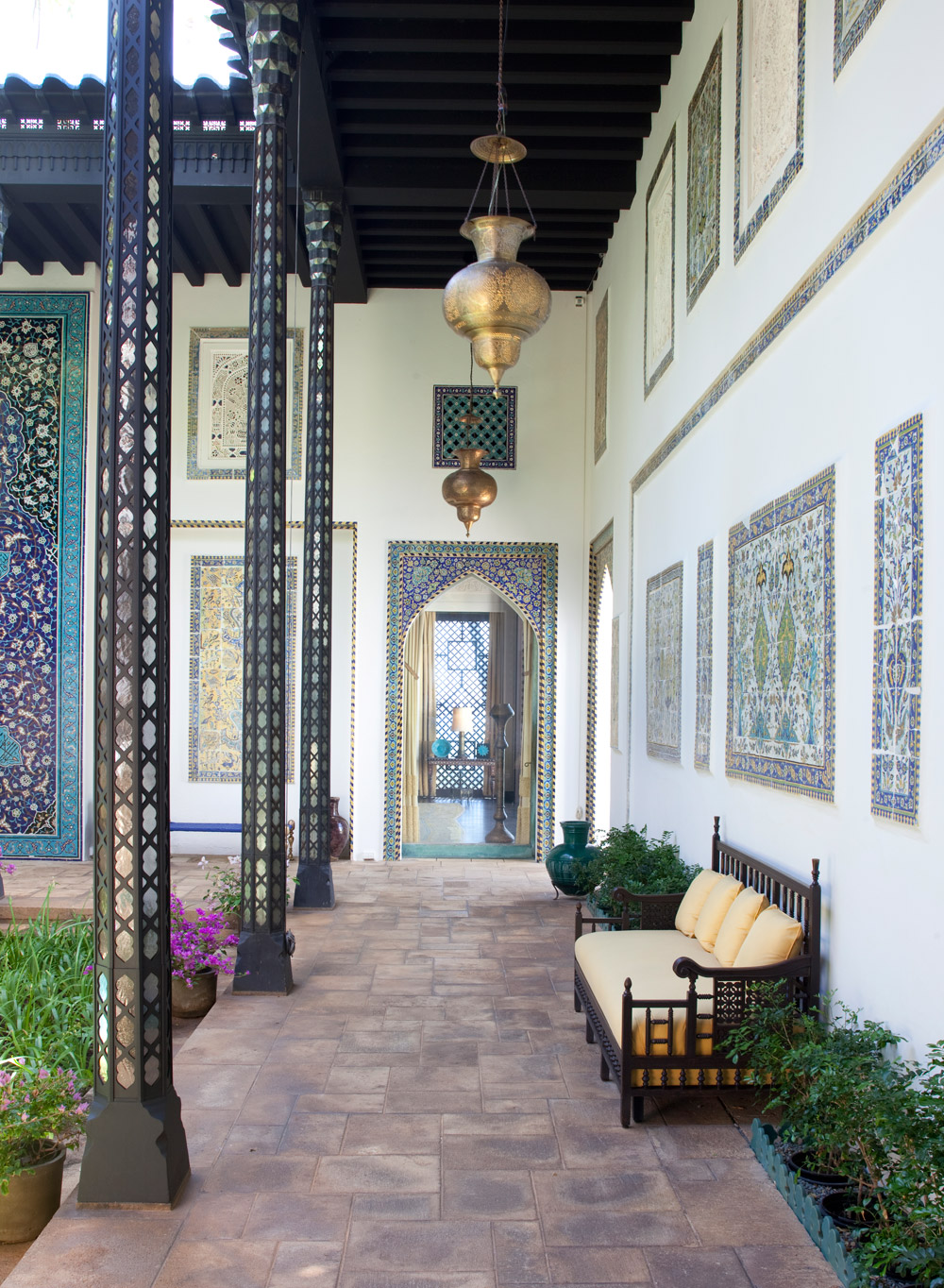 Display of Art in the Central Courtyard