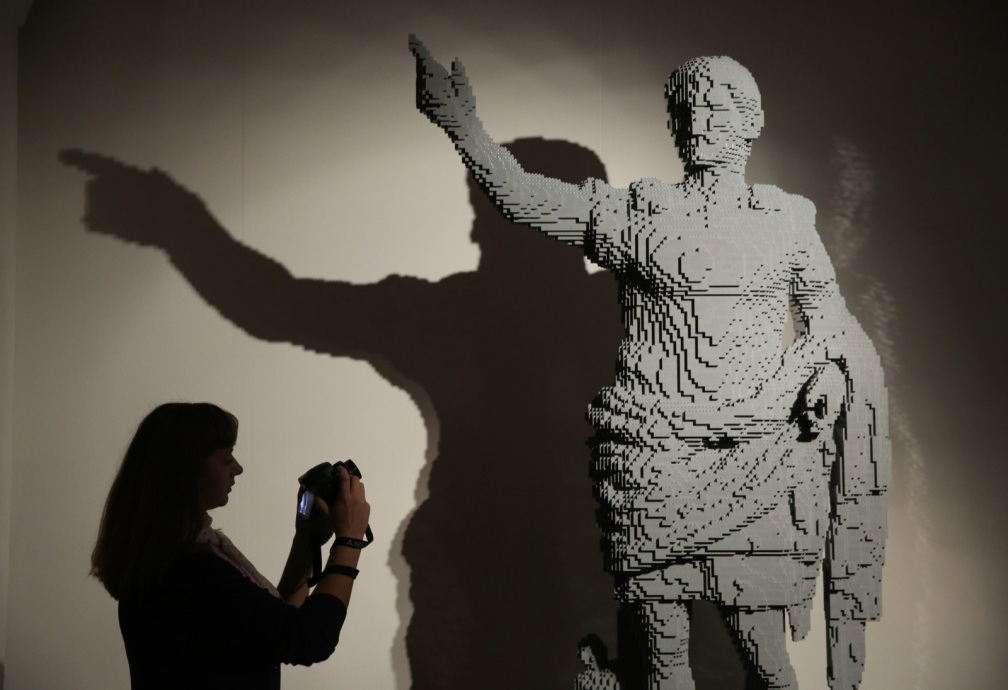 The sculpture 'Augustus of Prima Porta'