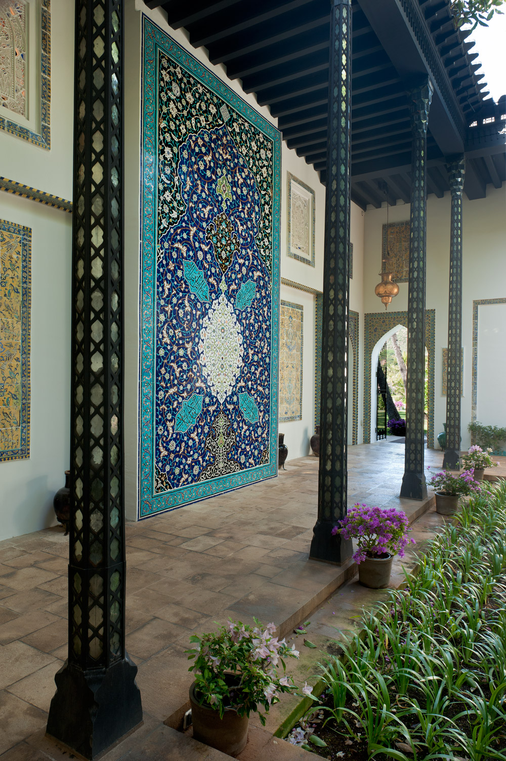 Mosaic Tile Panel in the Central Courtyard