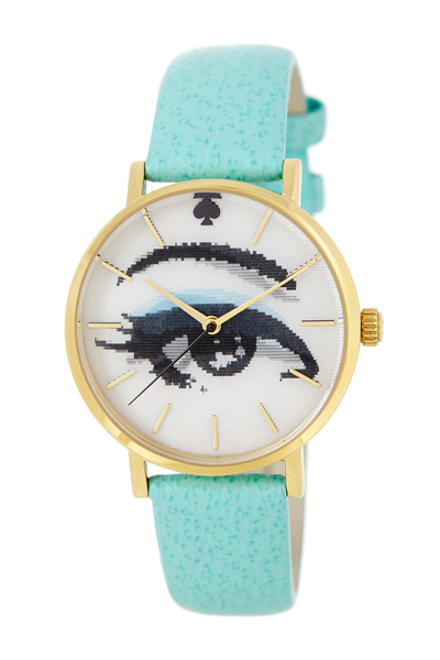 Kate-Spade-Metro-Holographic-Turquoise-Watch