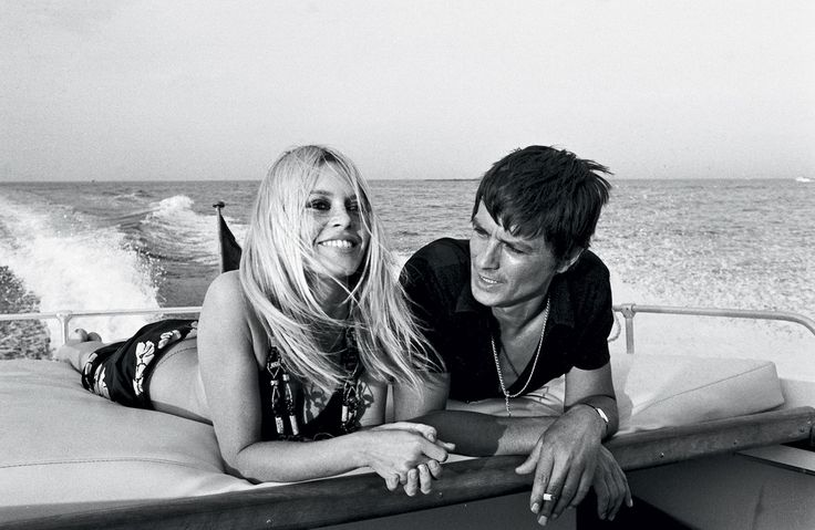Brigitte Bardot and Alain Delon cruise St. Tropez, 1968