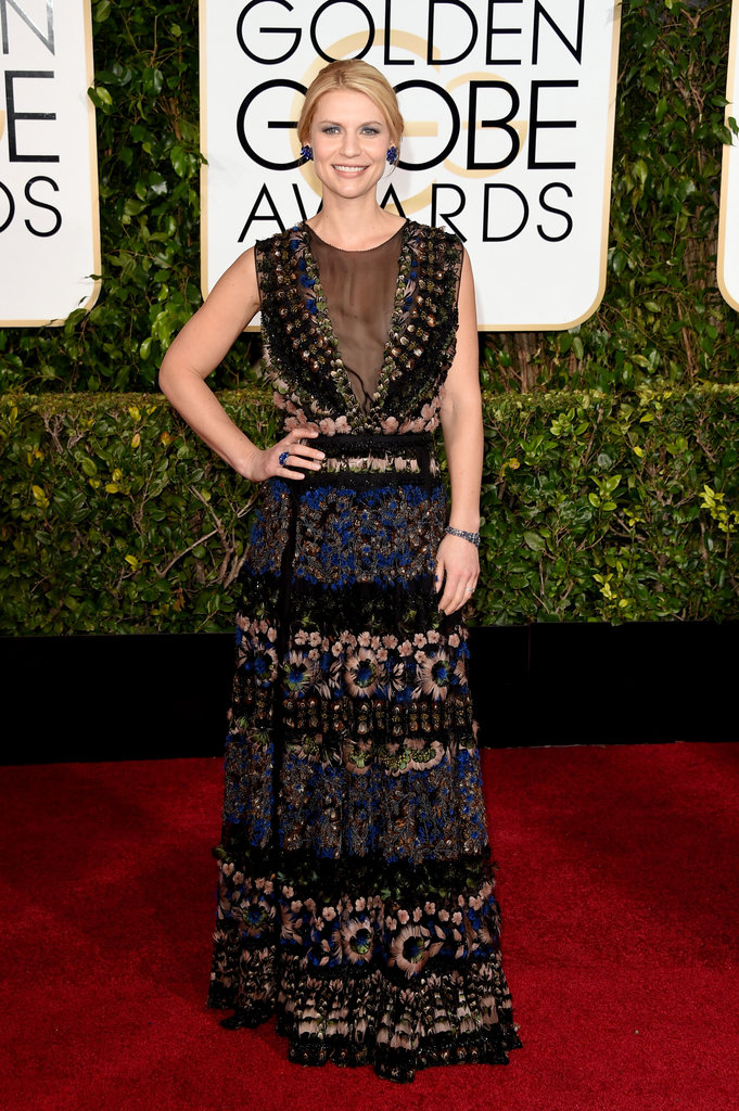 "Claire Danes - I like the dress, doesn't scream ""Golden Globe Awards"" but Claire can keep it simple and elegant without too many bells and whistles"