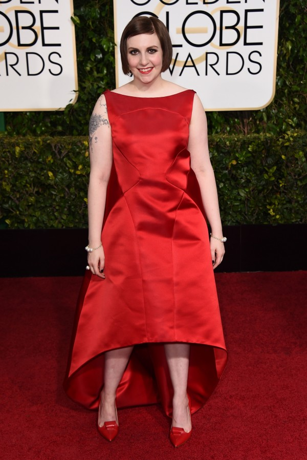 Is this one of the characters from The Hobbit??? Oh wait, this is Lena Dunham. Shit, sorry...she's barely recognizable with clothes on...