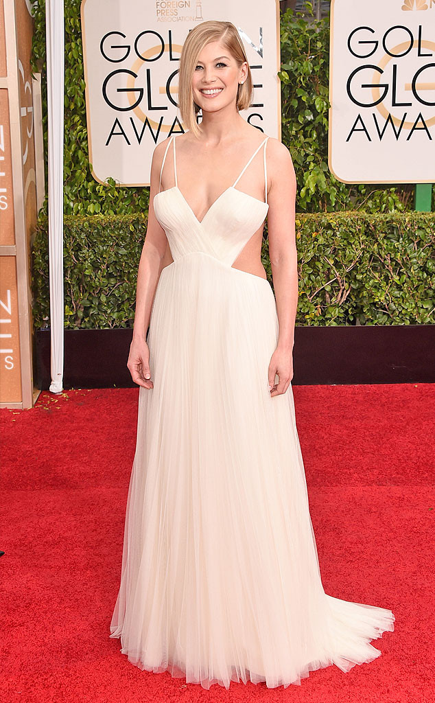 Rosamund Pike - I think by mistake she wore the hammock designed by Vera Wang
