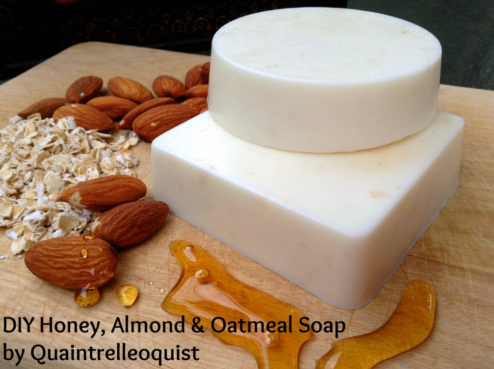 DIY Honey, Almond & Oatmeal Soap