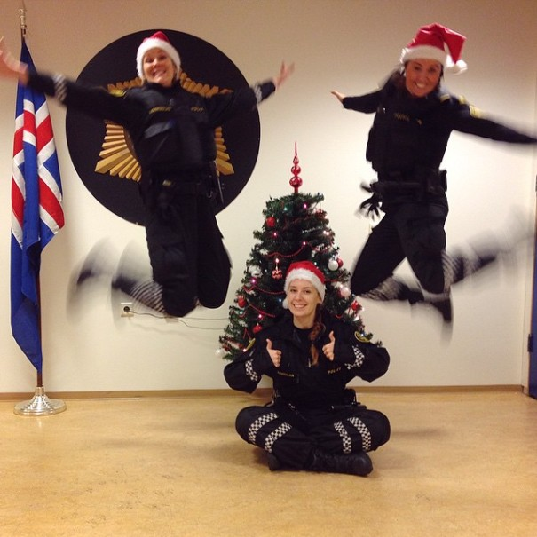 Jumping for joy, Christmas is coming!