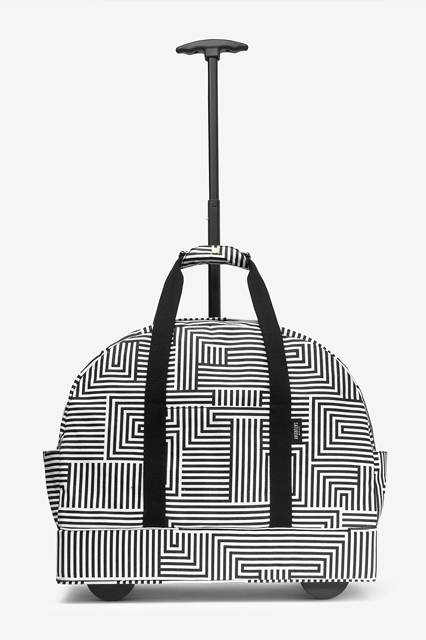 Kate Spade Saturday The Weekender Bag On Wheels In Signature Zig Zag