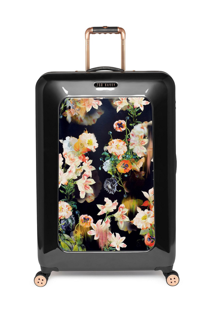 Ted Baker Opulent Bloom Black 4-wheel Hard Large Rollercase