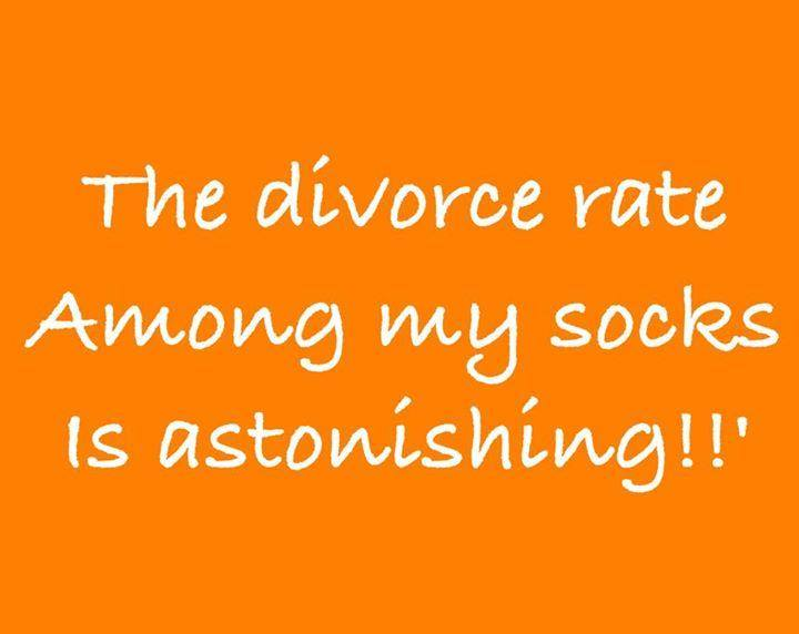 divorce rate among socks