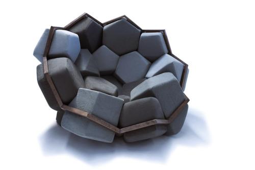 geometrical sofa set