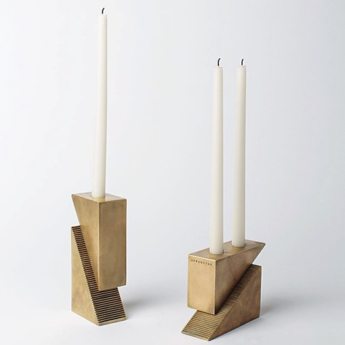 modular brass candle blocks