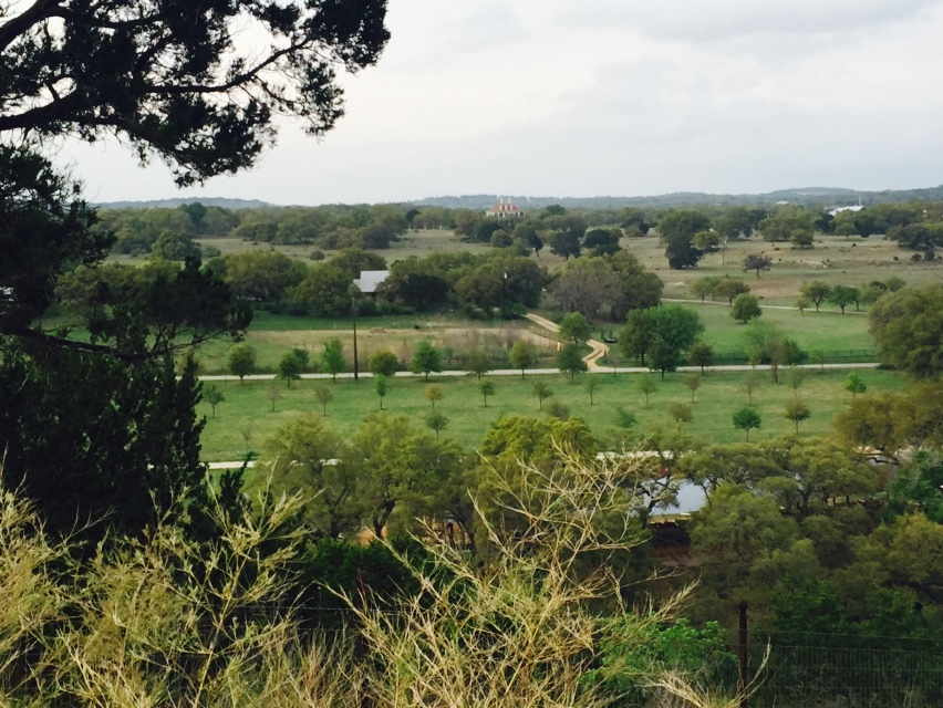 The Scenic View from Camp Lucy overlooking Hill Country, TX