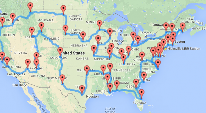 The Ultimate Road Trip of U.S.