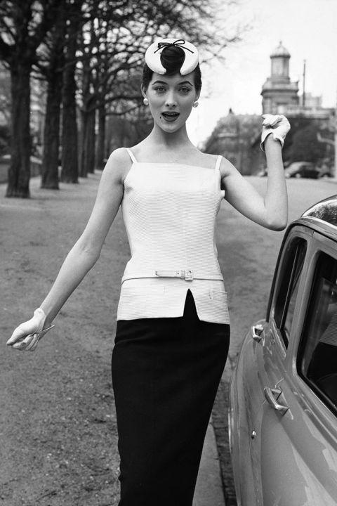A Dior hat, 1955
