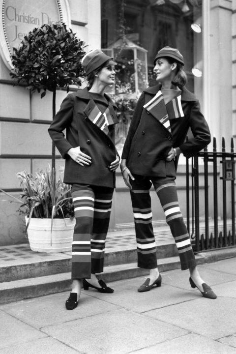 Jill Leslie and Patricia Donald Smith wear Dior, 1966