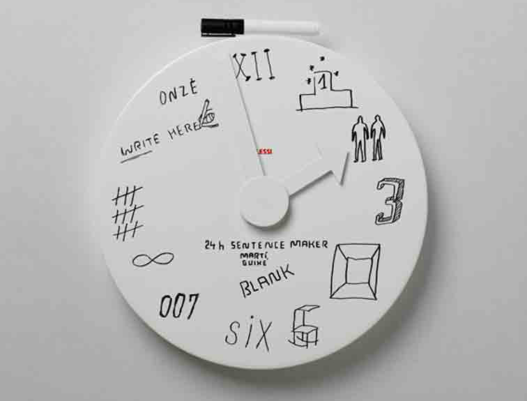 Guixe_Alessi_Blank_wall_clock
