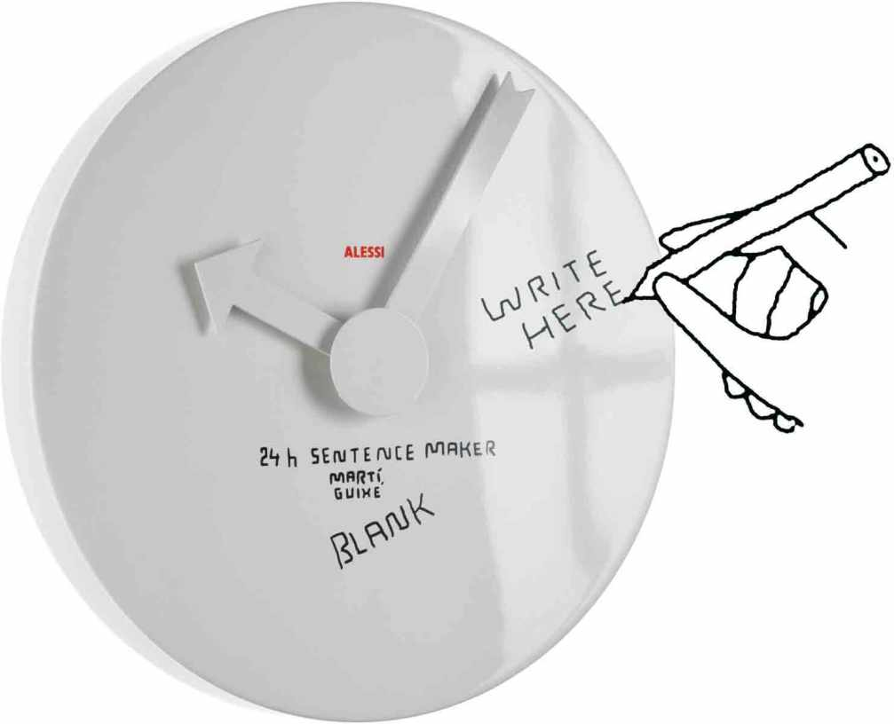 Guixe_Alessi_Blank_wall_clock_instruction