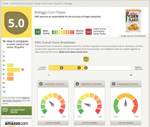 Foodscores app