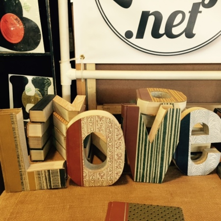 Letter Lounge - These are vintage books upcycled into letters!